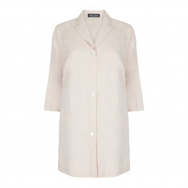 BEIGE LABEL LONGLINE LINEN JACKET - Plus Size Collection