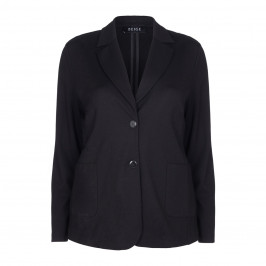 BEIGE label black punto jersey blazer JACKET - Plus Size Collection