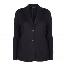 BEIGE label black punto jersey blazer JACKET - Plus Size Collection