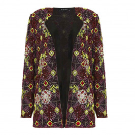 BEIGE label black silk sequin & embroidered JACKET - Plus Size Collection