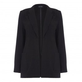BEIGE label black crepe cady JACKET - Plus Size Collection