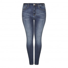 BEIGE narrow leg denim 5-pocket JEANS - Plus Size Collection