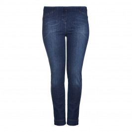 BEIGE label Pull-On faded blue denim JEGGINGs - Plus Size Collection