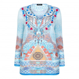 BEIGE label blue KAFTAN with beaded neckline - Plus Size Collection