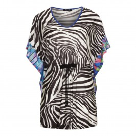 Beige zebra print Kaftan - Plus Size Collection