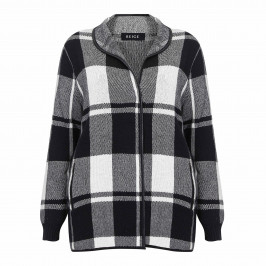 BEIGE LABEL CHECK JACKET MONOCHROME - Plus Size Collection