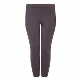 BEIGE LABEL DARK GREY JERSEY LEGGING - Plus Size Collection