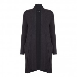 BEIGE LONG anthracite marl CARDIGAN - Plus Size Collection