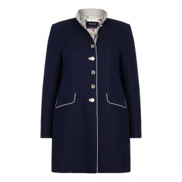 BEIGE label navy and stone LONG JACKET - Plus Size Collection