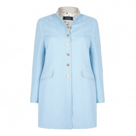 BEIGE label-sky-blue-LONG JACKET - Plus Size Collection