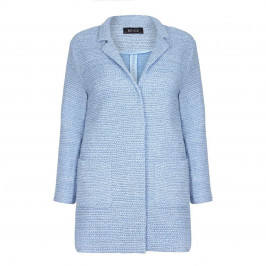 BEIGE baby blue LONG JACKET - Plus Size Collection