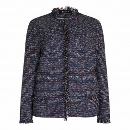 Beige label navy tweed Jacket - Plus Size Collection