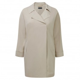 Beige Plus Long Jacket - Plus Size Collection
