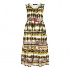 BEIGE Midi print DRESS - Plus Size Collection