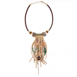BEIGE label fringed and beaded NECKLACE - Plus Size Collection