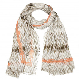 BEIGE label zig-zag print SCARF - Plus Size Collection