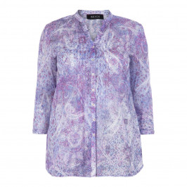 BEIGE LABEL PURE COTTON PAISLEY SHIRT - Plus Size Collection