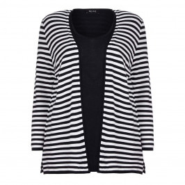 Beige TWINSET IN NAVY STRIPES - Plus Size Collection