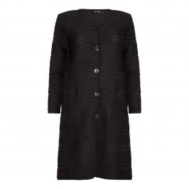 BEIGE label black longer back COAT - Plus Size Collection