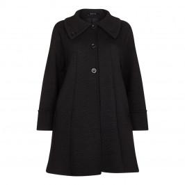 BEIGE label black floral jacquard COAT - Plus Size Collection