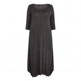 BEIGE label grey DRESS with shoulder detail - Plus Size Collection