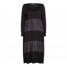 BEIGE label black fabric stripes DRESS - Plus Size Collection