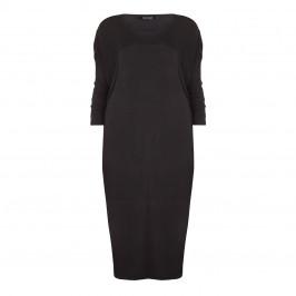 BEIGE label black jersey drop shoulder DRESS - Plus Size Collection