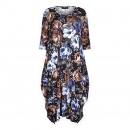 BEIGE label floral print deep pocket egg DRESS - Plus Size Collection