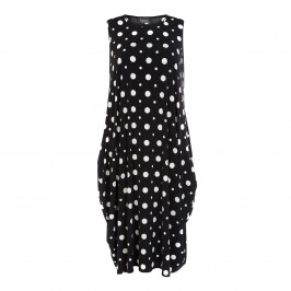 BEIGE LABEL SLEEVELESS DOT DRESS - Plus Size Collection