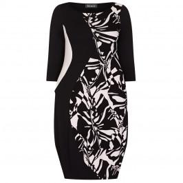 BEIGE LABEL CURVE ENHANCING DRESS BLACK AND WHITE