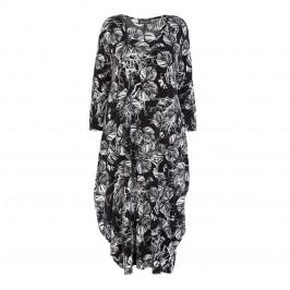 6fb8712d685 BEIGE LABEL leaf print DRESS - Plus Size Collection