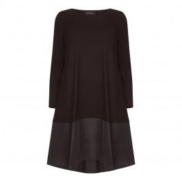 BEIGE LABEL BLACK JERSEY DRESS WITH TAFFETA HEM - Plus Size Collection