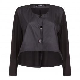 BEIGE label black short JACKET with longer back - Plus Size Collection