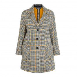 BEIGE LABEL YELLOW AND BLACK CHECK JACKET - Plus Size Collection