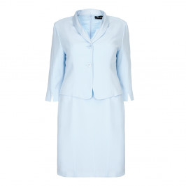 BEIGE dress and jacket in ice blue - Plus Size Collection