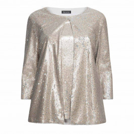 BEIGE LABEL SEQUIN TWINSET SILVER - Plus Size Collection
