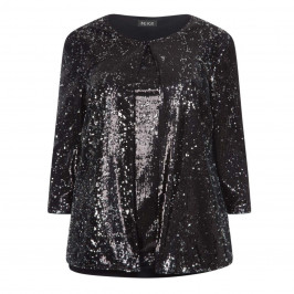 BEIGE LABEL SEQUIN TWINSET BLACK - Plus Size Collection