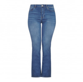 BEIGE label straight leg medium wash JEANS - Plus Size Collection