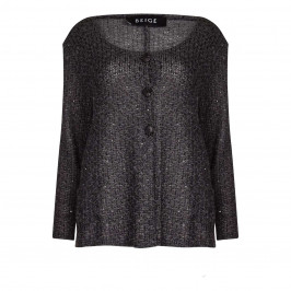 BEIGE label grey KNITTED Cardigan WITH UNEVEN HEM - Plus Size Collection