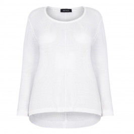 Beige label white Knitted Tunic - Plus Size Collection