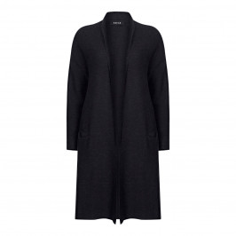 BEIGE LABEL BLACK CARDIGAN - Plus Size Collection