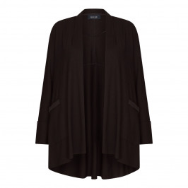BEIGE LABEL STRETCH JERSEY CARDIGAN BLACK - Plus Size Collection