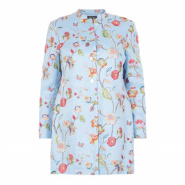 BEIGE LABEL PALE BLUE EMBROIDERED JACKET  - Plus Size Collection