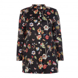 BEIGE LABEL BLACK EMBROIDERED JACKET  - Plus Size Collection