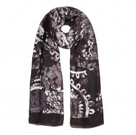 BEIGE LABEL BLACK FLORAL PRINT SCARF - Plus Size Collection