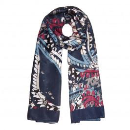 BEIGE LABEL BLUE FLORAL PRINT SCARF - Plus Size Collection