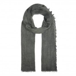 BEIGE LABEL GREEN SCARF WITH  FRINGED HEM - Plus Size Collection