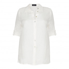 BEIGE label ECRU LINEN SHIRT - Plus Size Collection