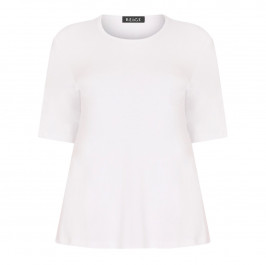 BEIGE LABEL STRETCH JERSEY T-SHIRT WHITE - Plus Size Collection