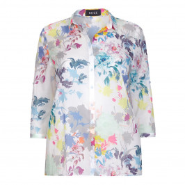 BEIGE label floral print cotton voile SHIRT - Plus Size Collection